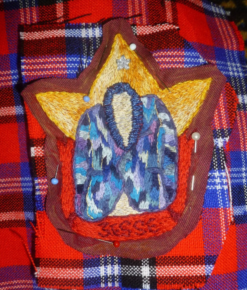 Basting Coat of Many Colours Embroidery Patch