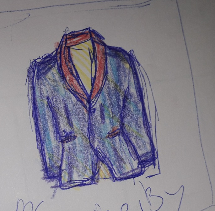 Drawing design coat of many colours